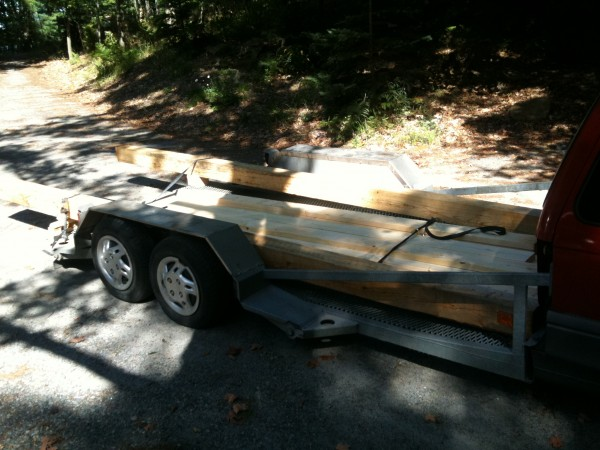 A load of Beams For the Cottage Porch