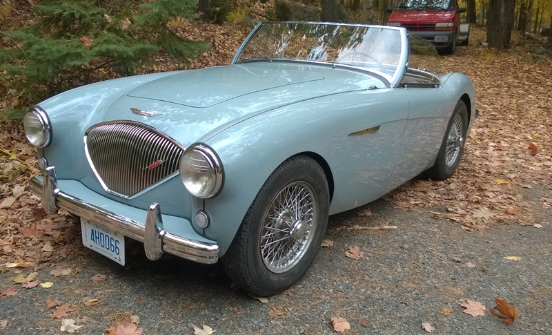 THE DESTINATION OF THE HORN RIMS 1953 AUSTIN HEALEY BODY #174