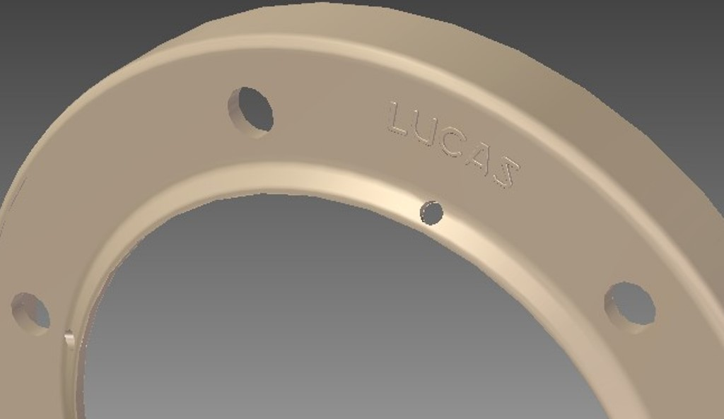 PART OF THE CAD DRAWING REQUIRED TO PRODUCE THE RIMS