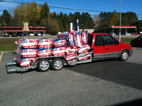 32 Packs of Insulation Try getting that in an F150