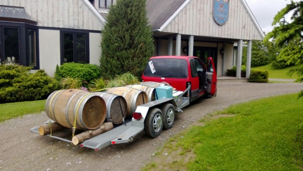 A load of of Wine Barrels Wedding Decorations