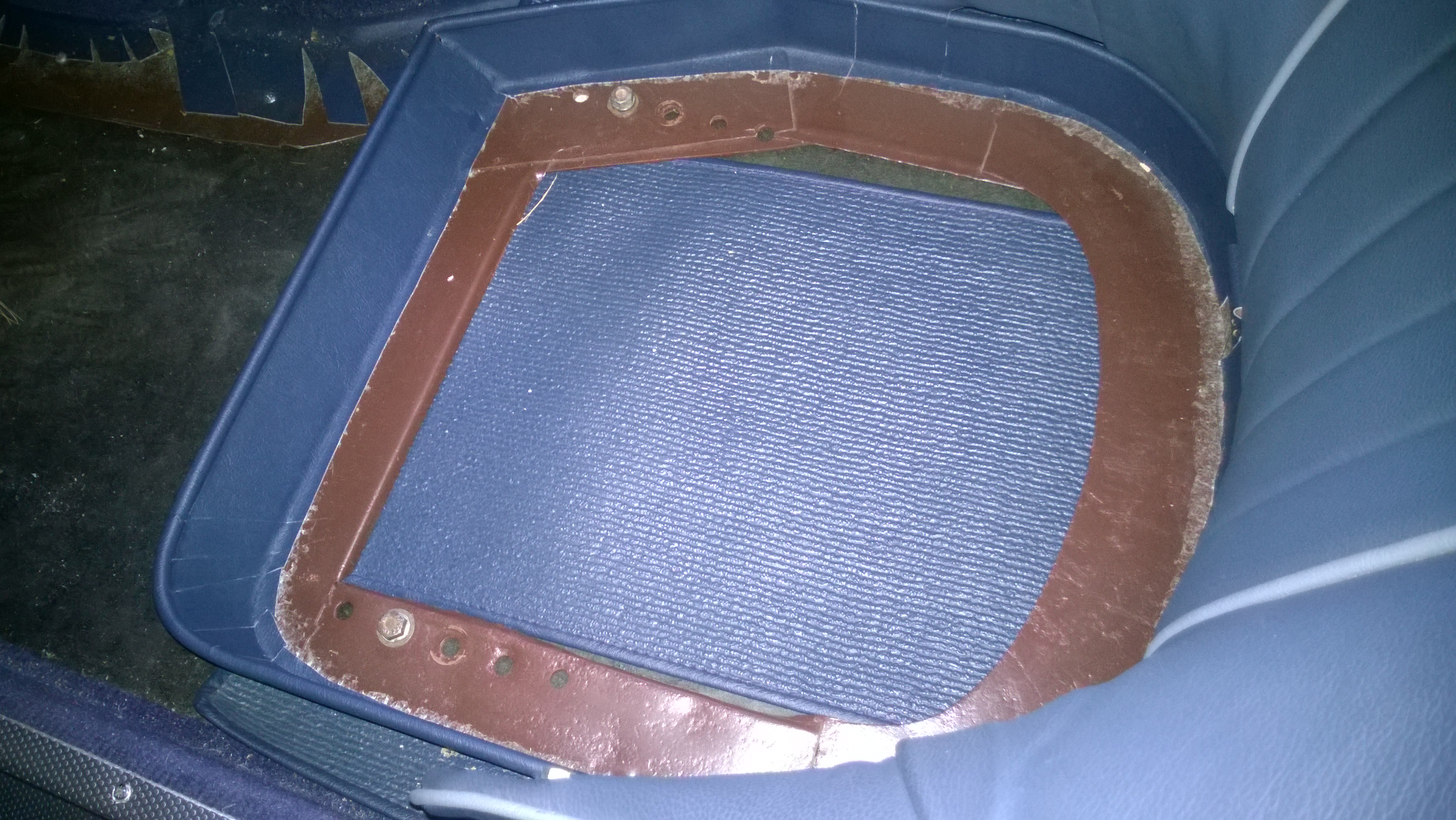 """The """"High Tech"""" Seat Adjustment System on #174's Driver's Seat"""